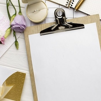 empty-clipboard-papers-wedding-planner SQUARE-min