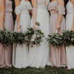 bride-bridesmaid-dresses-white-pink