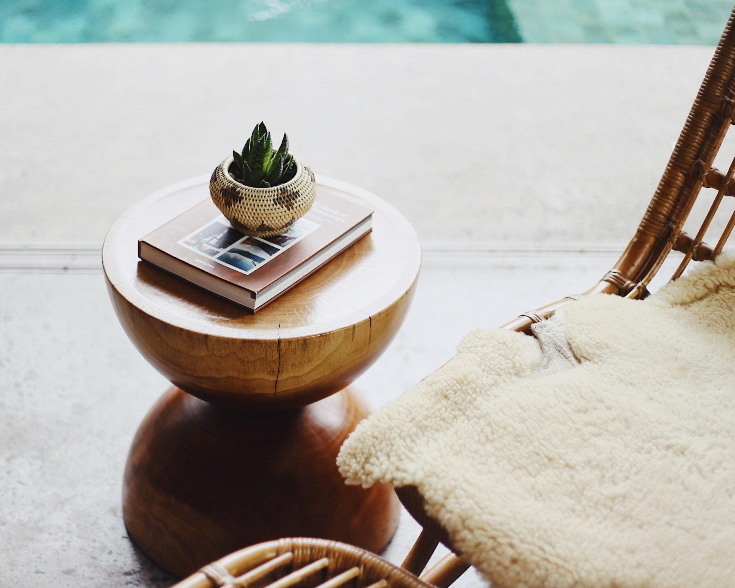 wood-bowl-fake-plant-table