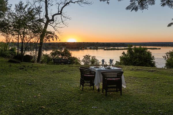 lake-sunset-tree-table-setting